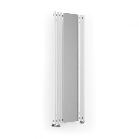 Terma Rolo White Vertical Mirror Radiator - 1800mm x 590mm - Angled