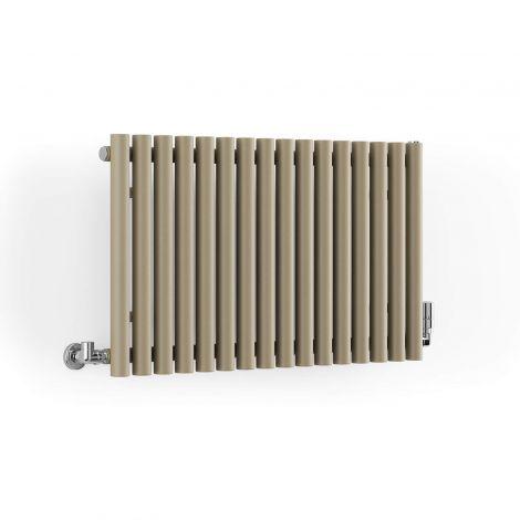 Terma Rolo Quartz Mocha Horizontal Radiator - 500mm x 865mm - Angled