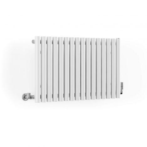 Terma Rolo White Horizontal Radiator - 500mm x 865mm - Angled