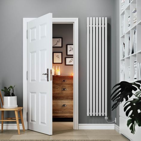 Terma Rolo Vertical Electric Radiator - White