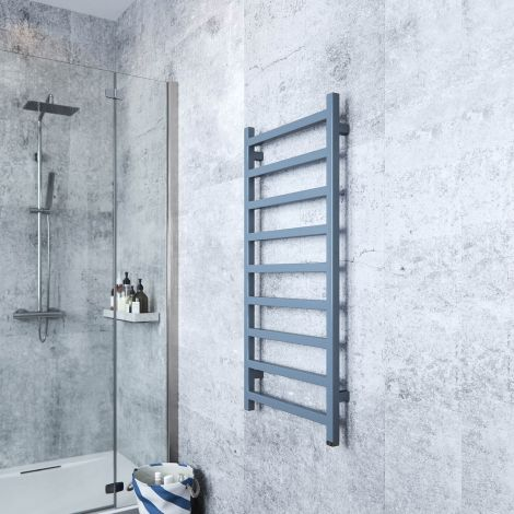 Terma Simple One Maritime Blue Electric Towel Rail - 1080mm x 500mm