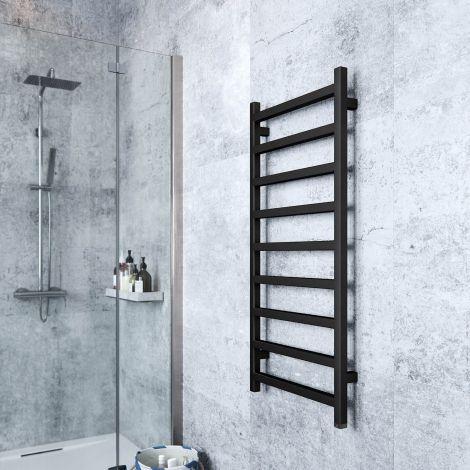 Terma Simple One Heban Black Electric Towel Rail - 1080mm x 500mm