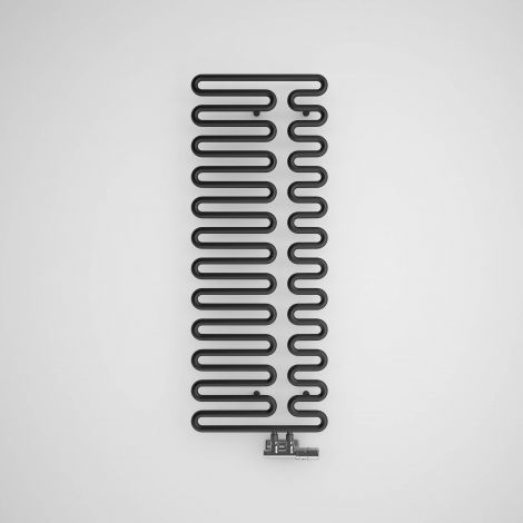 Terma Swale Metallic Black Heated Towel Rail - 1244mm x 465mm