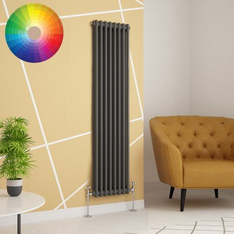 Old Style Vertical 2 Column Radiator 1800mm high x 339mm wide - 33 x Bespoke Colours