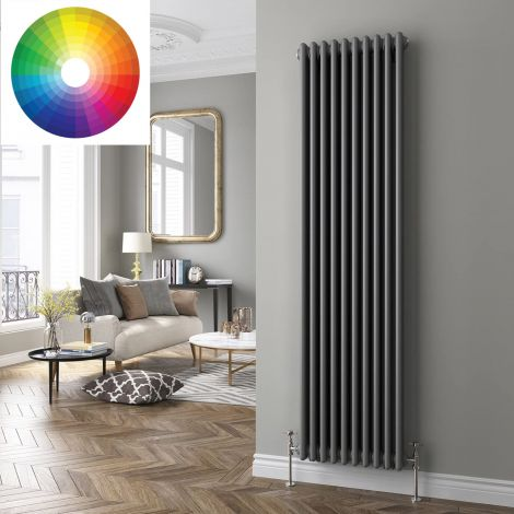 Old Style Vertical 2 Column Radiator 1800mm high x 564mm wide - 33 x Bespoke Colours