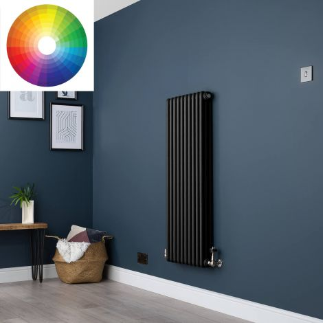 Old Style Vertical 3 Column Radiator 1200mm high x 474mm wide - 33 x Bespoke Colours