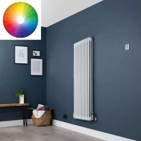 Old Style Vertical 3 Column Radiator 1500mm high x 519mm wide - 33 x Bespoke Colours