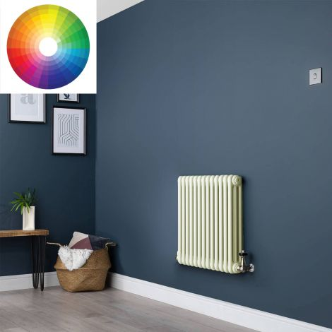 Old Style 3 Column Radiator 600mm high x 609mm wide - 33 x Bespoke Colours