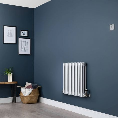 White Traditional 3 Column Radiator - 600mm x 609mm