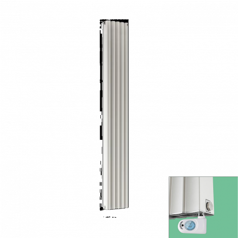 Torpedo Electric Thermostatic White Designer Radiator 1800 x 245mm