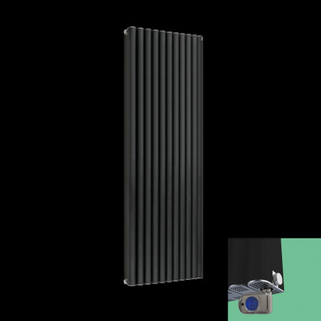 Torpedo Anthracite Thermostatic Electric Radiator 1500 x 545mm
