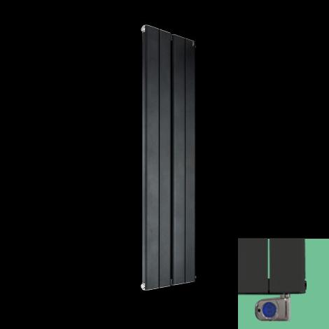 Torpedo Vertical Electric Anthracite Slim Designer Radiator 1500mm high x 395mm wide