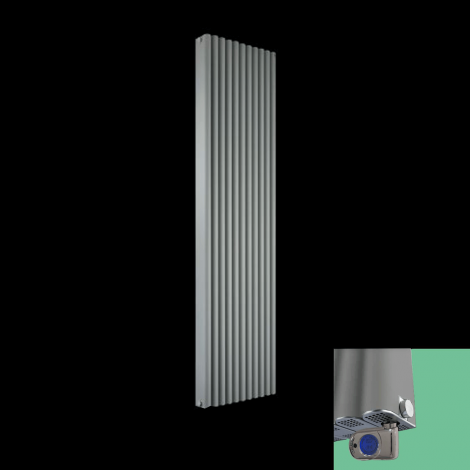 Torpedo Grey Thermostatic Electric Radiator 1800mm high x 545mm wide
