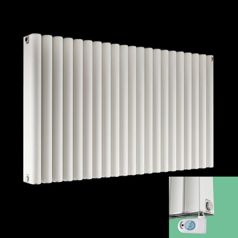 Torpedo White Thermostatic Electric Radiator 600mm high x 1045mm wide