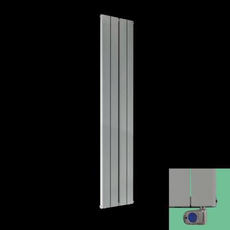 Torpedo Electric Vertical Light Grey Slim Radiator 1800mm high x 395mm wide