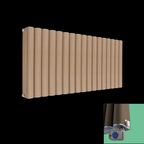Torpedo Electric Thermostatic Sand Brown Radiator 600mm high x 845mm wide