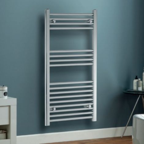 Trade Special - Chrome or White Thermostatic Electric Straight Ladder Tower Rail 400mm Wide - Multiple Height Options