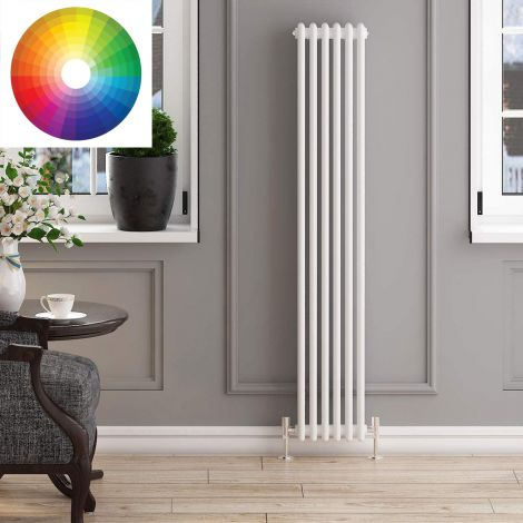 Old Style Vertical 3 Column Radiator 1800mm high x 339mm wide - 33 x Bespoke Colours