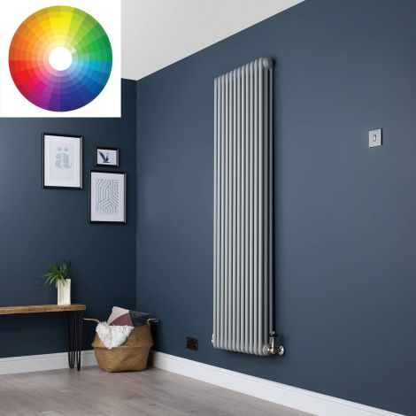 Old Style Vertical 3 Column Radiator 1800mm high x 564mm wide - 33 x Bespoke Colours