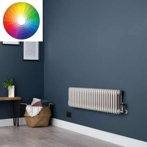 Old Style Horizontal 3 Column Radiator 300mm high x 1194mm wide - 33 x Bespoke Colours