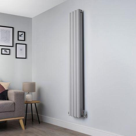 Venn Light Grey Vertical Designer Radiator - 1750x320mm