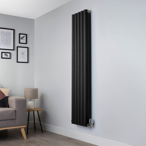 Venn Black Designer Radiator - 1750x400mm