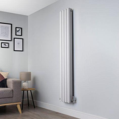 Venn White Vertical Tall Skinny Designer Radiator - 1750mm high x 320mm wide