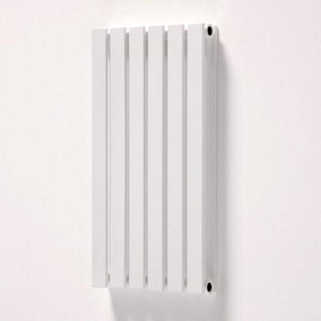 York White Flat Double Panel Horizontal Designer Radiator - Multiple Size Options