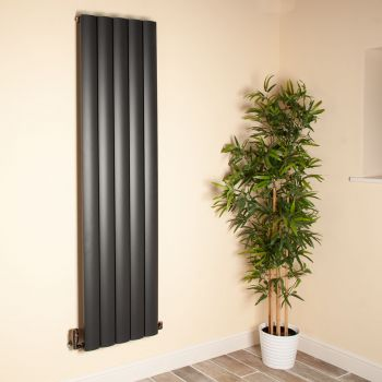 Aero Anthracite Vertical Tall Slim Designer Radiator - 1800mm high x 470mm wide
