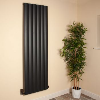 Aero Anthracite Vertical Tall Designer Radiator - 1800mm high x 565mm wide