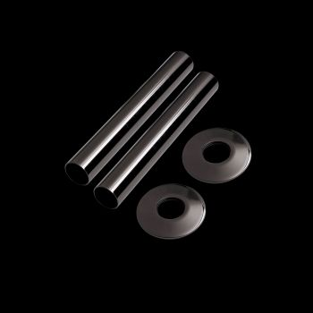 Black nickel pipe and collar set 130mm