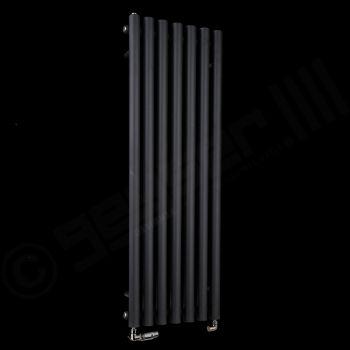 Circolo Thin Black Designer Radiator 1200mm high x 370mm wide