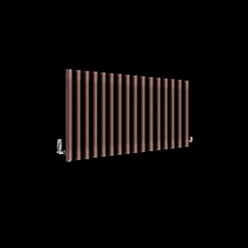 Circolo Chocolate Brown Designer Radiator 500mm high x 865mm wide