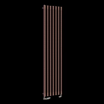 Circolo Tall Chocolate Brown Designer Radiator 1800mm high x 370mm wide