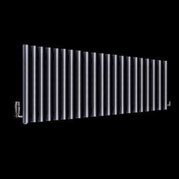 Circolo Dark Grey Designer Radiator 500mm high x 1195mm wide