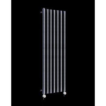 Circolo Thin Dark Grey Electric Radiator 1200mm high x 370mm wide