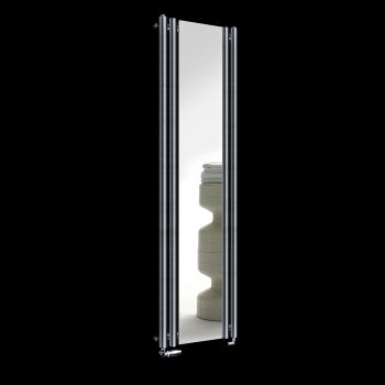 Circolo Dark Grey Designer Mirror Radiator 1800mm high x 480mm wide