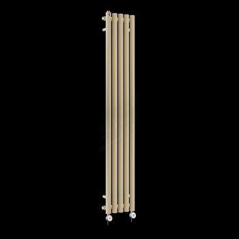 Circolo Tall Ultra Thin Light Cream Electric Radiator 1800mm high x 260mm wide