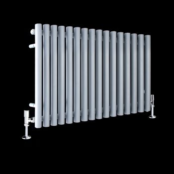 Circolo Light Grey Designer Radiator 500mm high x 865mm wide