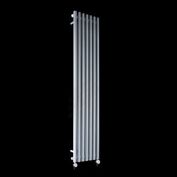 Circolo Tall Thin Light Grey Electric Radiator 1800mm high x 370mm wide