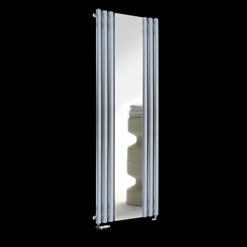 Circolo Light Grey Designer Mirror Radiator 1800mm high x 590mm wide