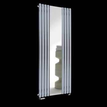 Circolo Light Grey Designer Mirror Radiator 1800mm high x 700mm wide