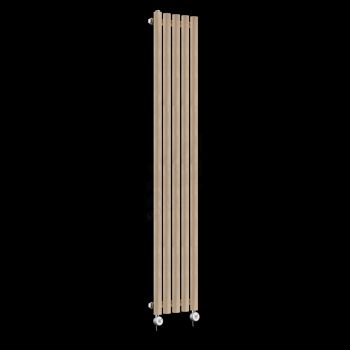 Circolo Tall Ultra Thin Sand Brown Electric Radiator 1800mm high x 260mm wide