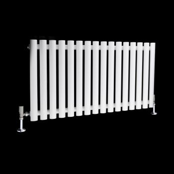 Circolo White Designer Radiator 500mm high x 865mm wide