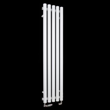 Circolo Thin White Designer Radiator 1200mm high x 260mm wide