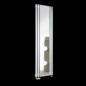 Circolo White Designer Mirror Radiator 1800mm high x 480mm wide