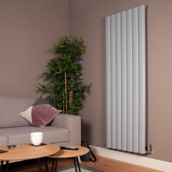 Aero Mid Grey Vertical High Output Designer Radiator - 1800mm high x 660mm wide