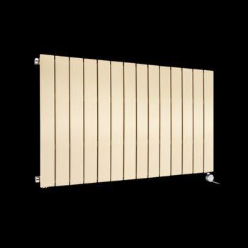 Muro Light Cream Horizontal Single Panel Electric Radiator 600mm high x 1045mm wide