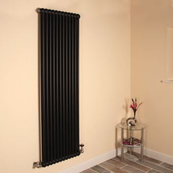 Old Style High Output Matt Anthracite 2 Column Radiator 1800mm high x 564mm wide