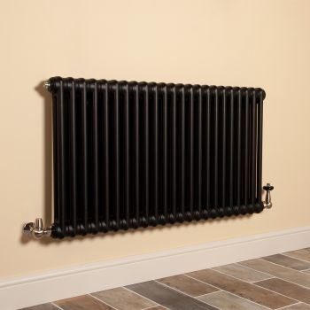 Old Style Matt Anthracite 2 Column Radiator 600mm high x 1059mm wide